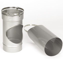 Chimney liner components - Shortbody Tee with Removable Snout
