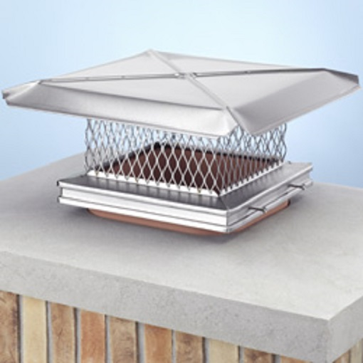 Gelco Stainless Steel Single Flue Chimney Cap Buckeye